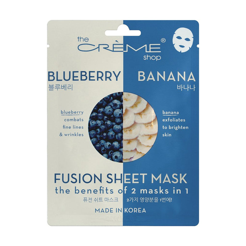 Blueberry & Banana Fusion Sheet Mask - The Crème Shop