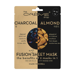 Charcoal & Almond Fusion Sheet Mask Fusion Mask The Crème Shop Single