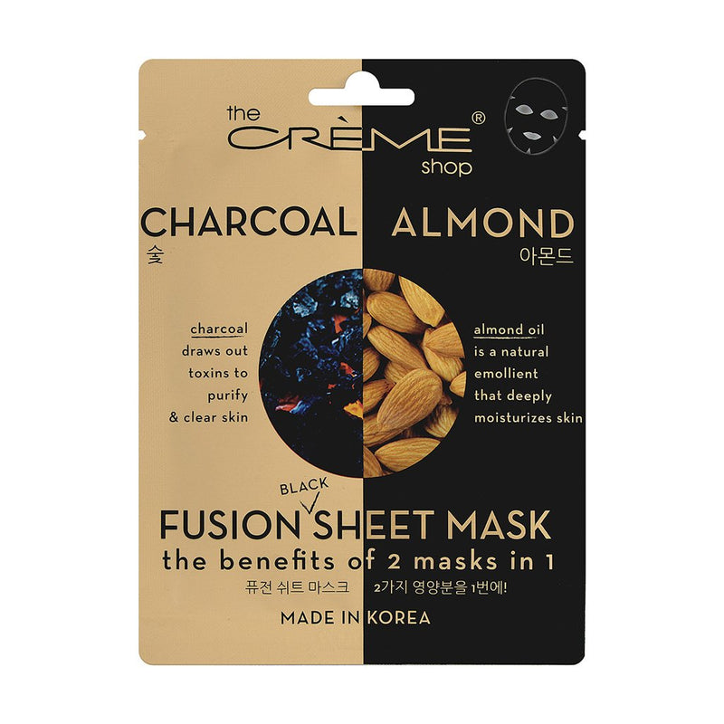 Charcoal & Almond Fusion Sheet Mask - The Crème Shop