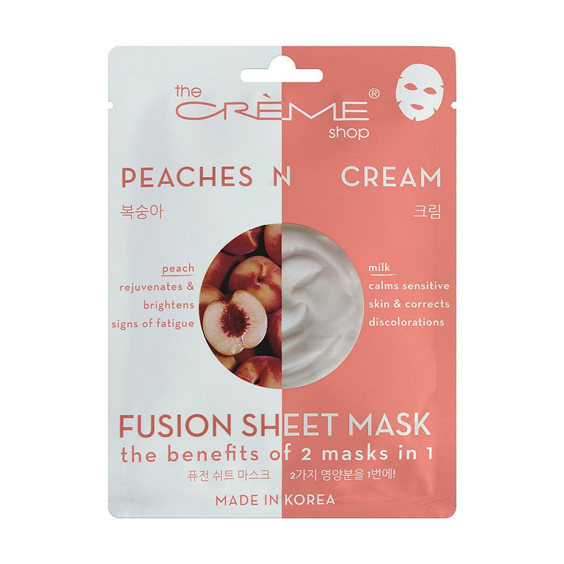 Peaches & Cream Fusion Sheet Mask - the-creme-shop-cosmetics-and-beauty-supply