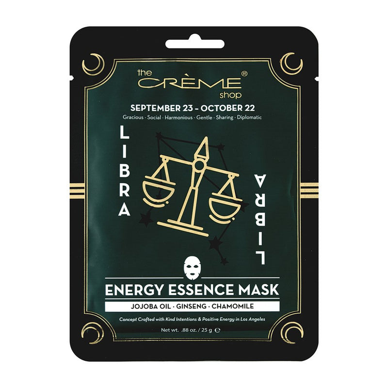 Energy Essence mask - Libra Zodiac Mask The Crème Shop Single