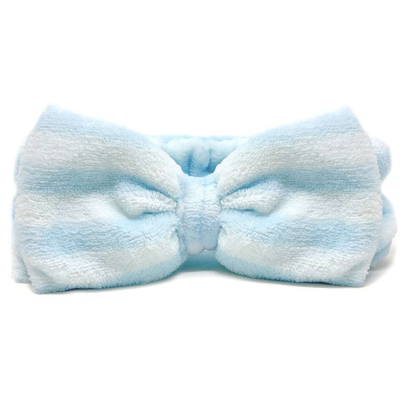 Blue Teddy Headyband with Stripes - The Crème Shop