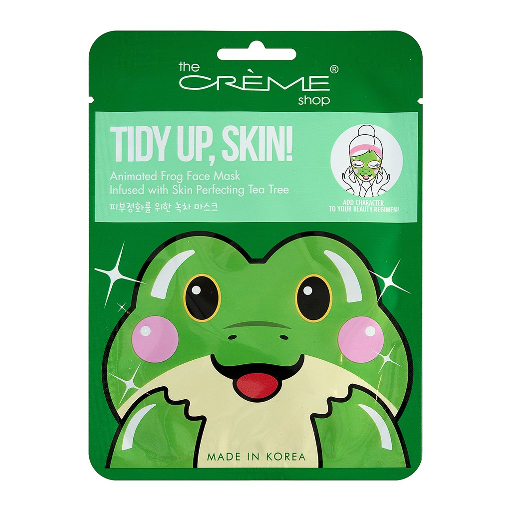Tidy Up, Skin! Animated Frog Face Mask - Skin Perfecting Tea Tree - The Crème Shop