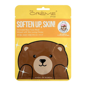 Soften Up, Skin! Animated Bear Face Mask - Skin Loving Honey - The Crème Shop