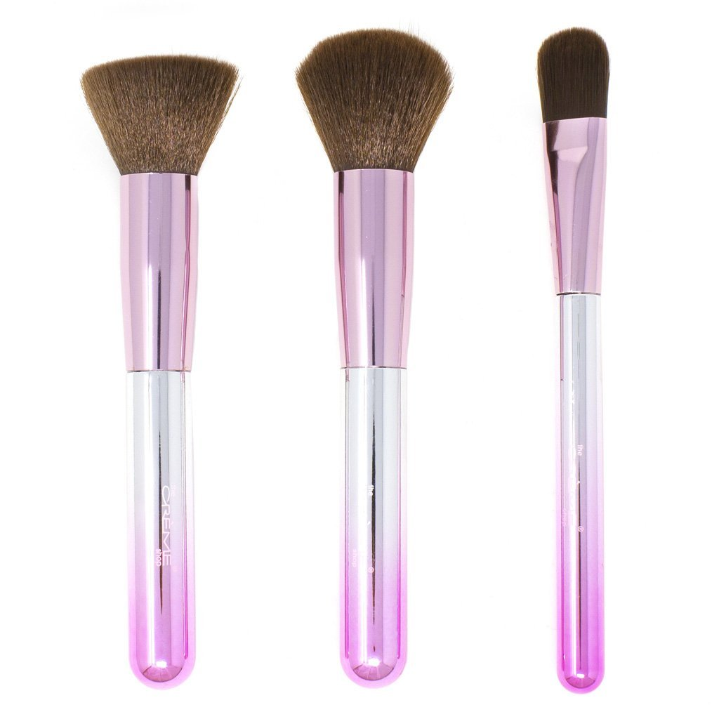 Techicolor Dreams - Set of 3 Face Brushes - the-creme-shop-cosmetics-and-beauty-supply