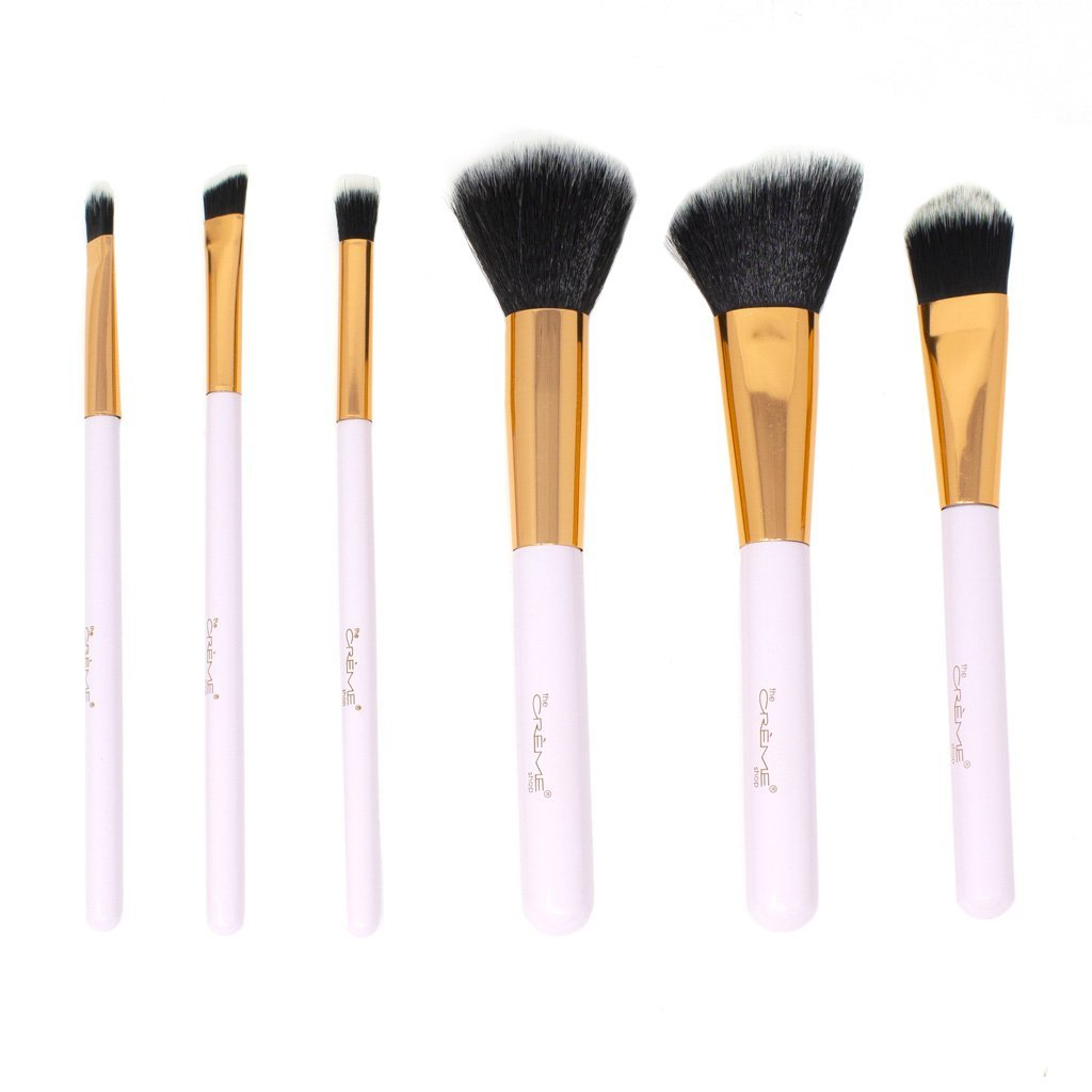 Blend & Snatch Bronze- 6 Brushes For a Picture Perfect Finish Silver - the-creme-shop-cosmetics-and-beauty-supply