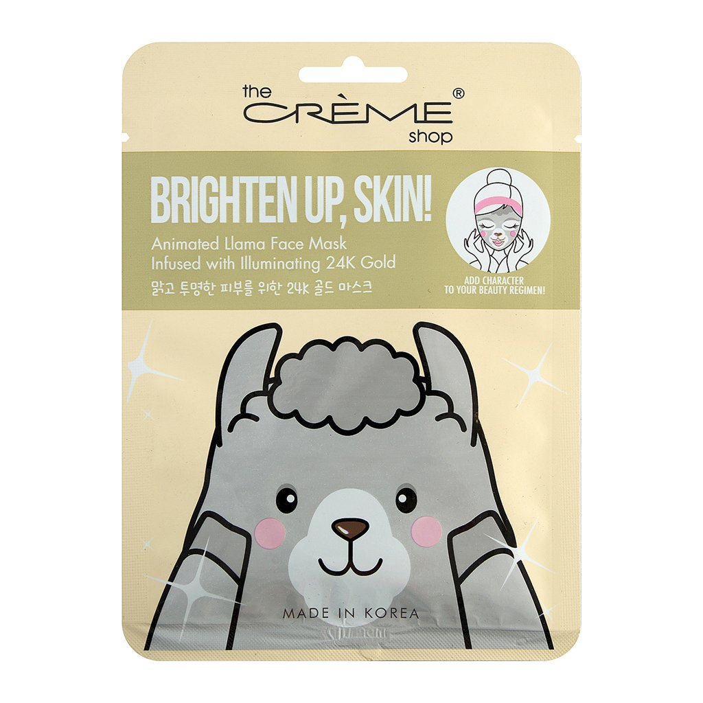 Brighten Up, Skin! Animated Llama Face Mask - The Crème Shop
