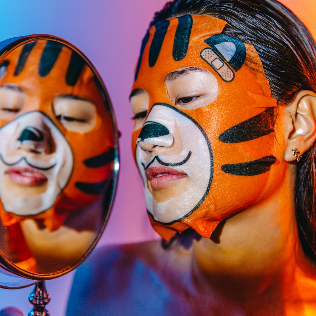 Cica-Mend - Animated Tiger Face Mask - The Crème Shop