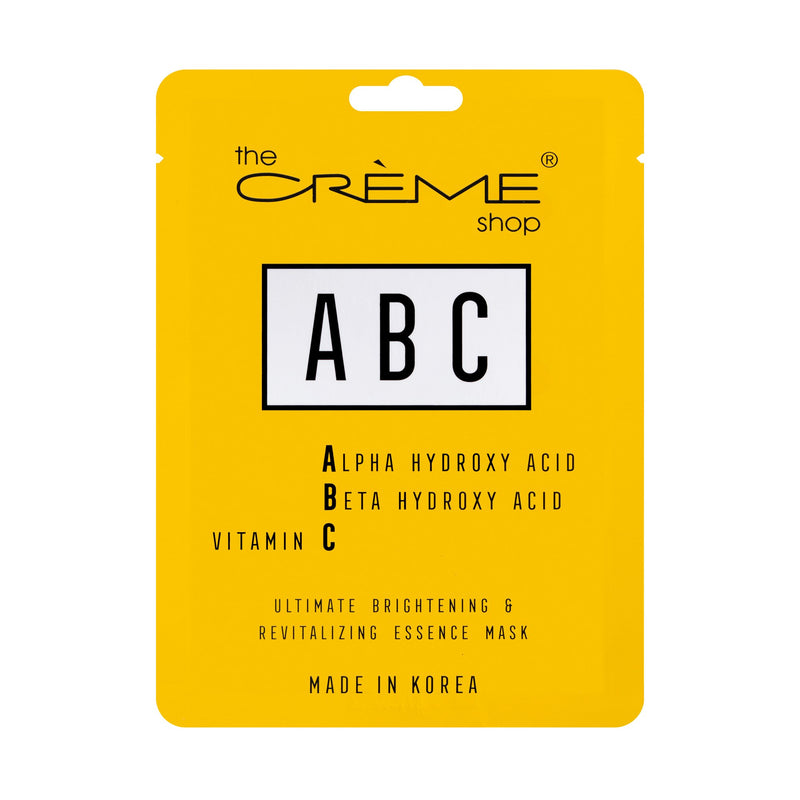 ABC Face Sheet Mask - The Crème Shop