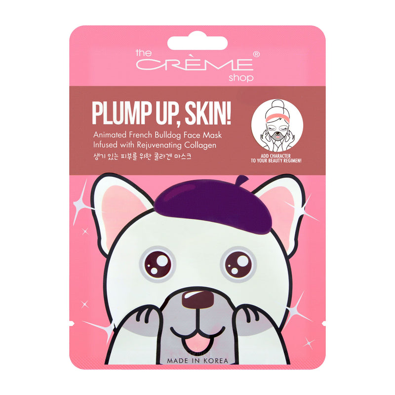 Plump Up, Skin! Animated French Bulldog Mask - Rejuvenating Collagen - The Crème Shop
