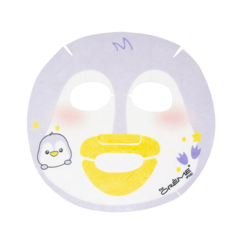 Drink Up, Skin! Animated Penguin Face Mask - Infused with Moisturizing Hyaluronic Acid Animated Sheet Masks The Crème Shop