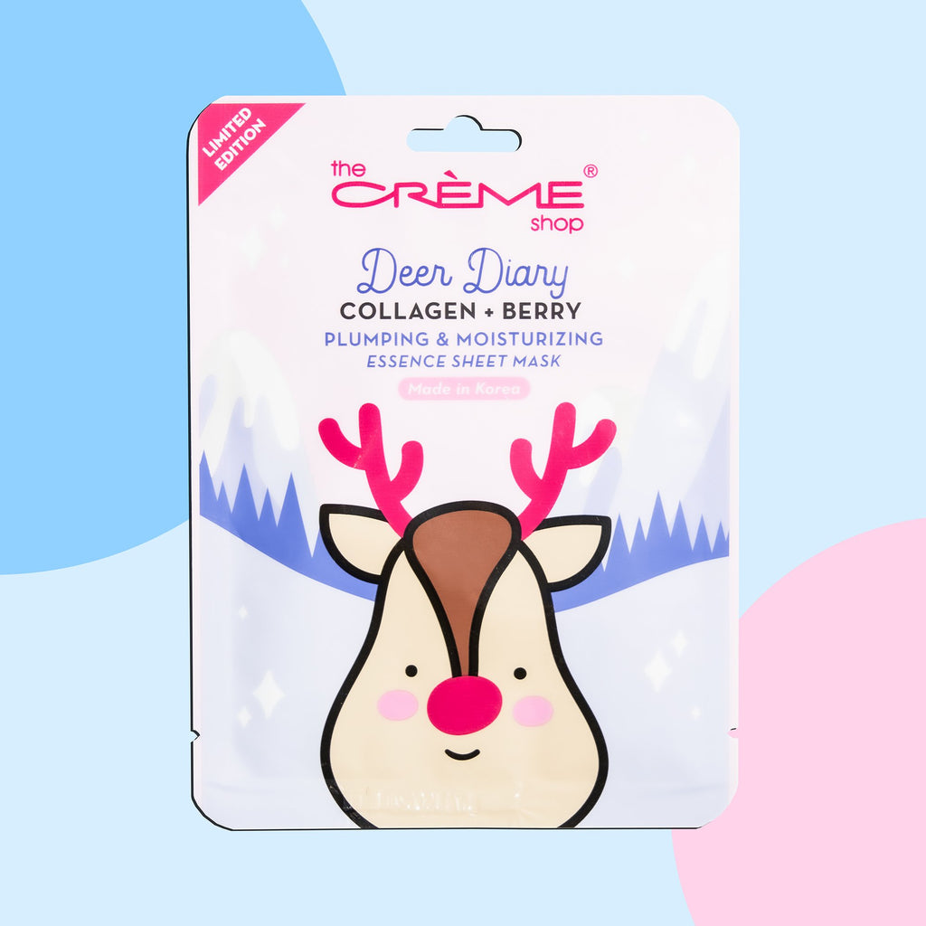 Deer Diary - Collagen + Berry Sheet Mask - The Crème Shop