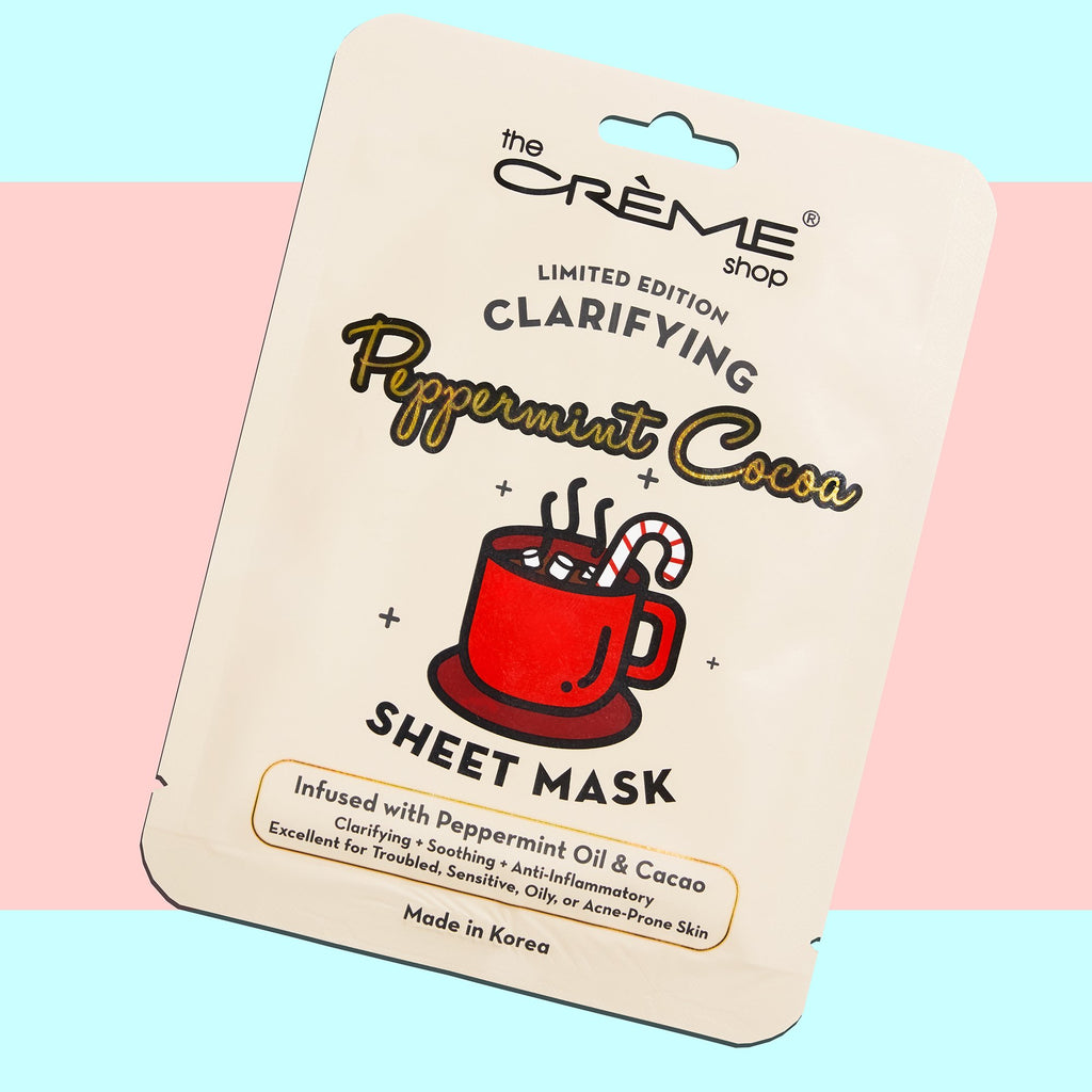 Clarifying Peppermint Cocoa Sheet Mask - The Crème Shop