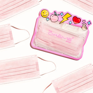 3-Ply Protective Face Mask - Pink (Disposable) - The Crème Shop