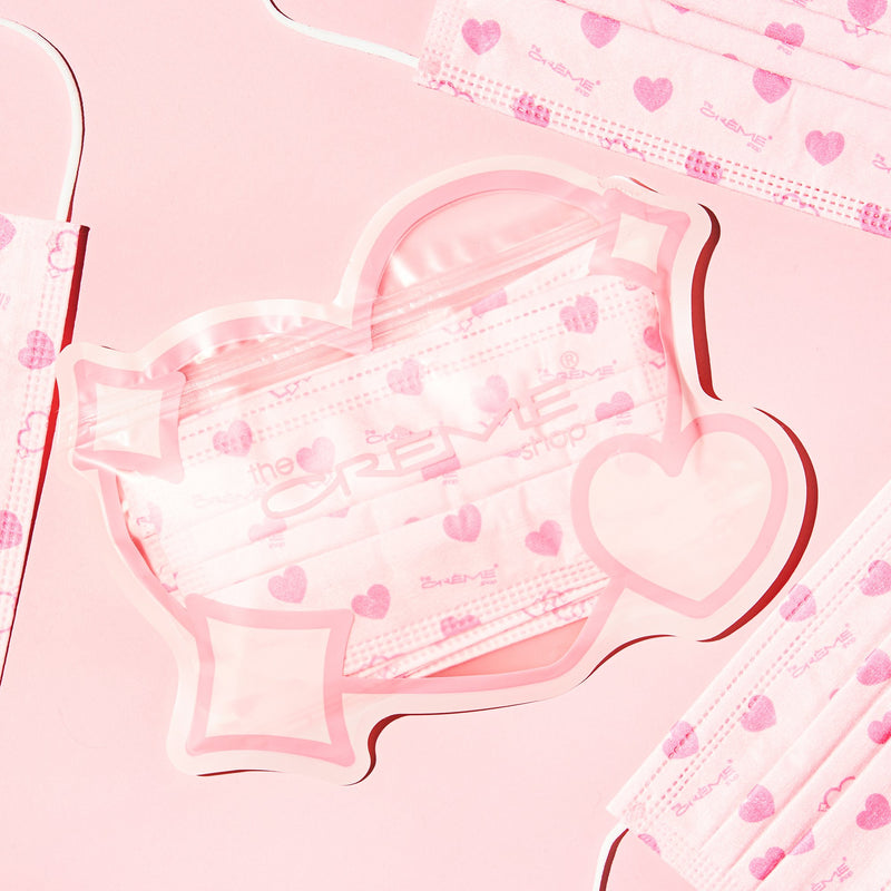 3-Ply Protective Face Mask - Heart's Content (Disposable) - The Crème Shop