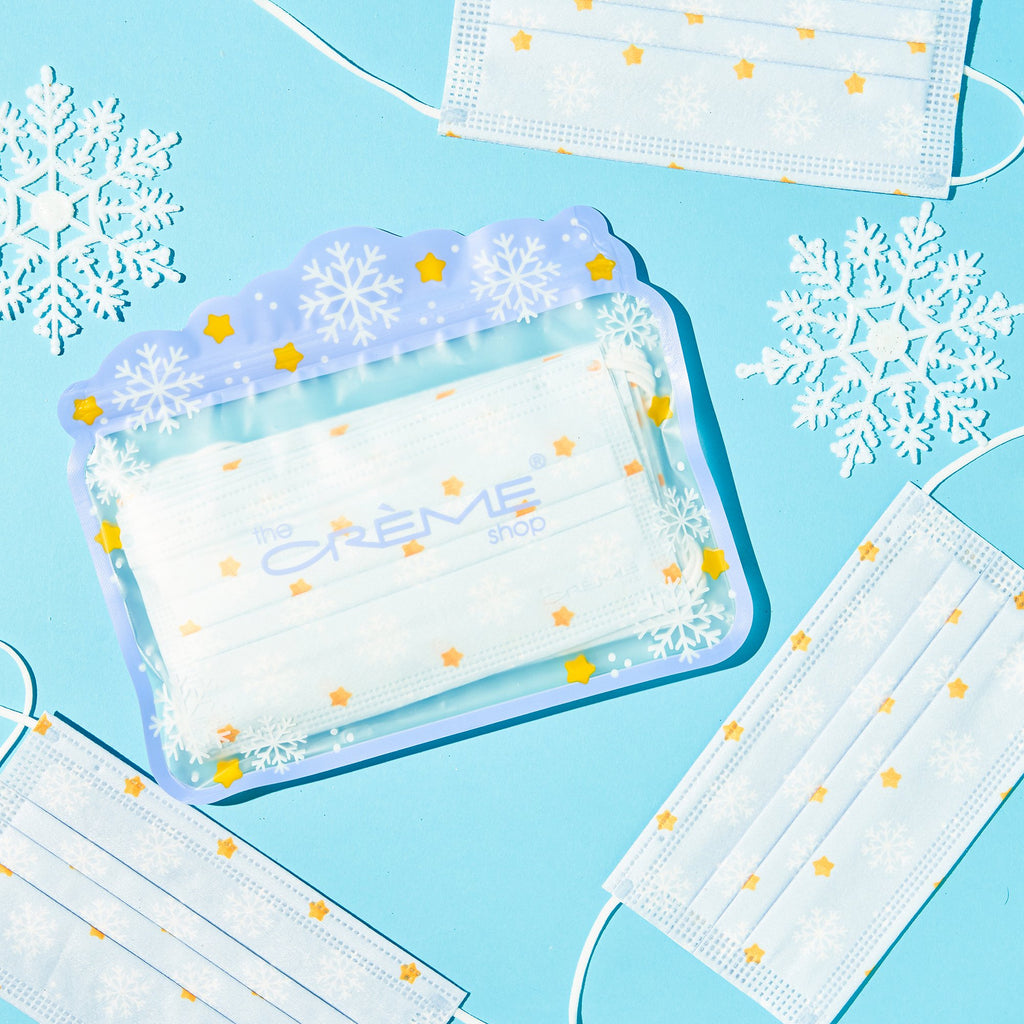 3-Ply Protective Face Mask - Snowfall (Disposable) - The Crème Shop