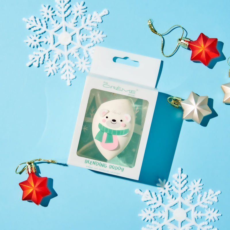 Blending Buddy Holiday Blending Sponge Polar Bear - White - The Crème Shop