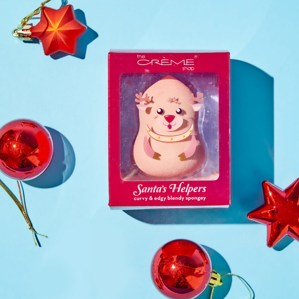 Holiday Santa's Helpers Blending Sponge Reindeer - Tan - The Crème Shop