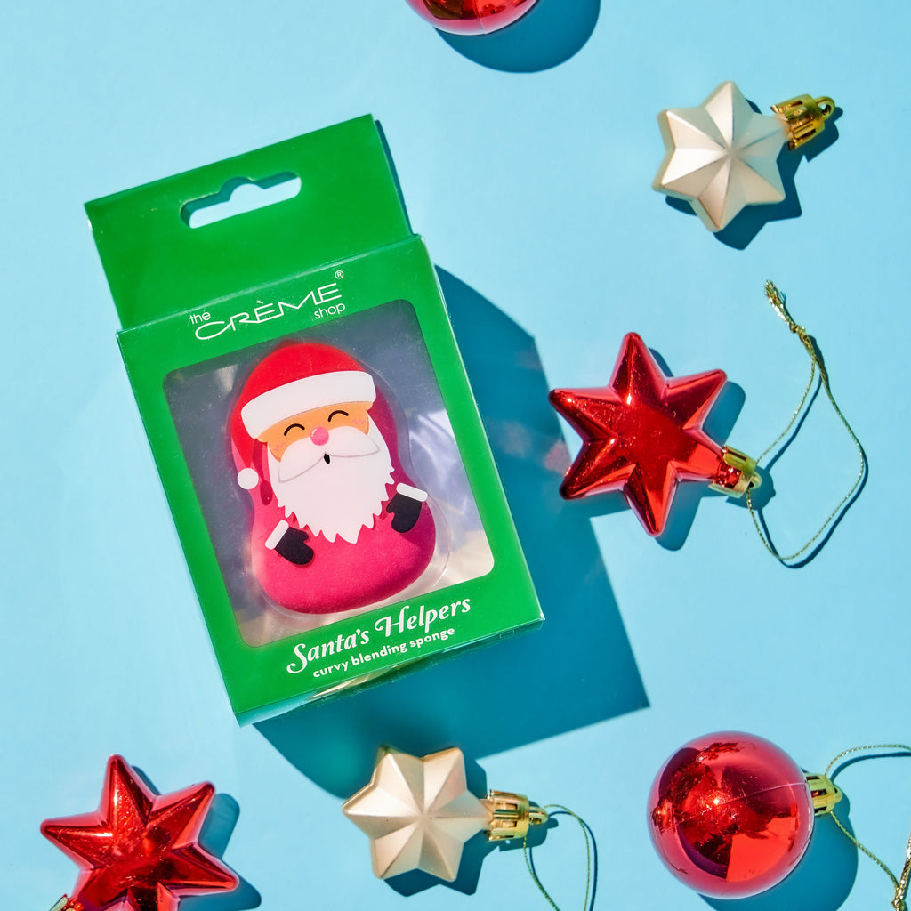 Holiday Santa's Helpers Blending Sponge Santa - Red - The Crème Shop