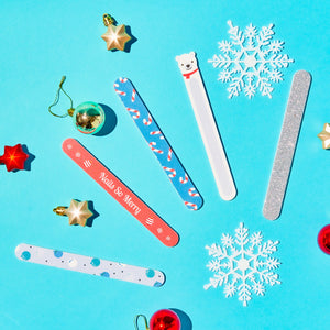 Holiday 5pc Nail File Set Fingers & Mistle-Toes - Bear-y Chill Set - The Crème Shop