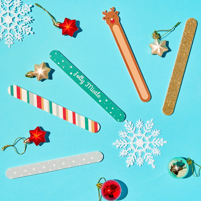 Holiday 5pc Nail File Set Fingers & Mistle-Toes - Runaway Reindeer Set - The Crème Shop