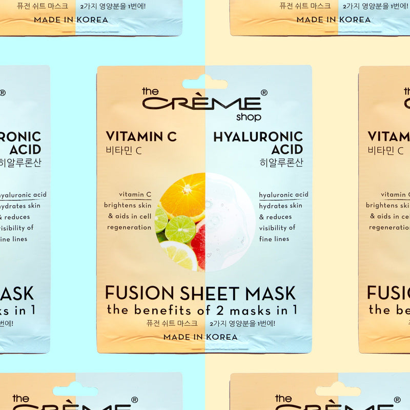 Vitamin C & Hyaluronic Acid Fusion Sheet Mask - The Crème Shop