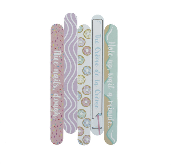 Glaze & Glam - Set of 5 Nail Files - the-creme-shop-cosmetics-and-beauty-supply