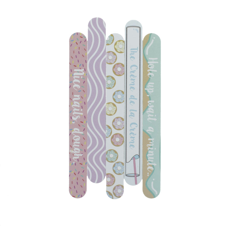 Glaze & Glam - Set of 5 Nail Files - The Crème Shop