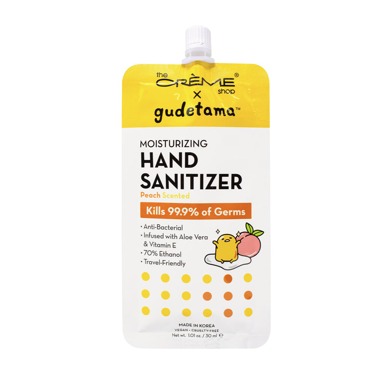 Gudetama Moisturizing Hand Sanitizer - Peach Scented - The Crème Shop
