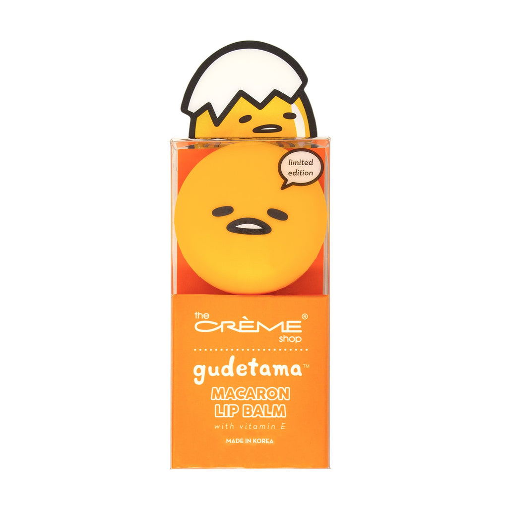 Gudetama Macaron Lip Balm - Peach Gummies Lip Balms The Crème Shop x Sanrio