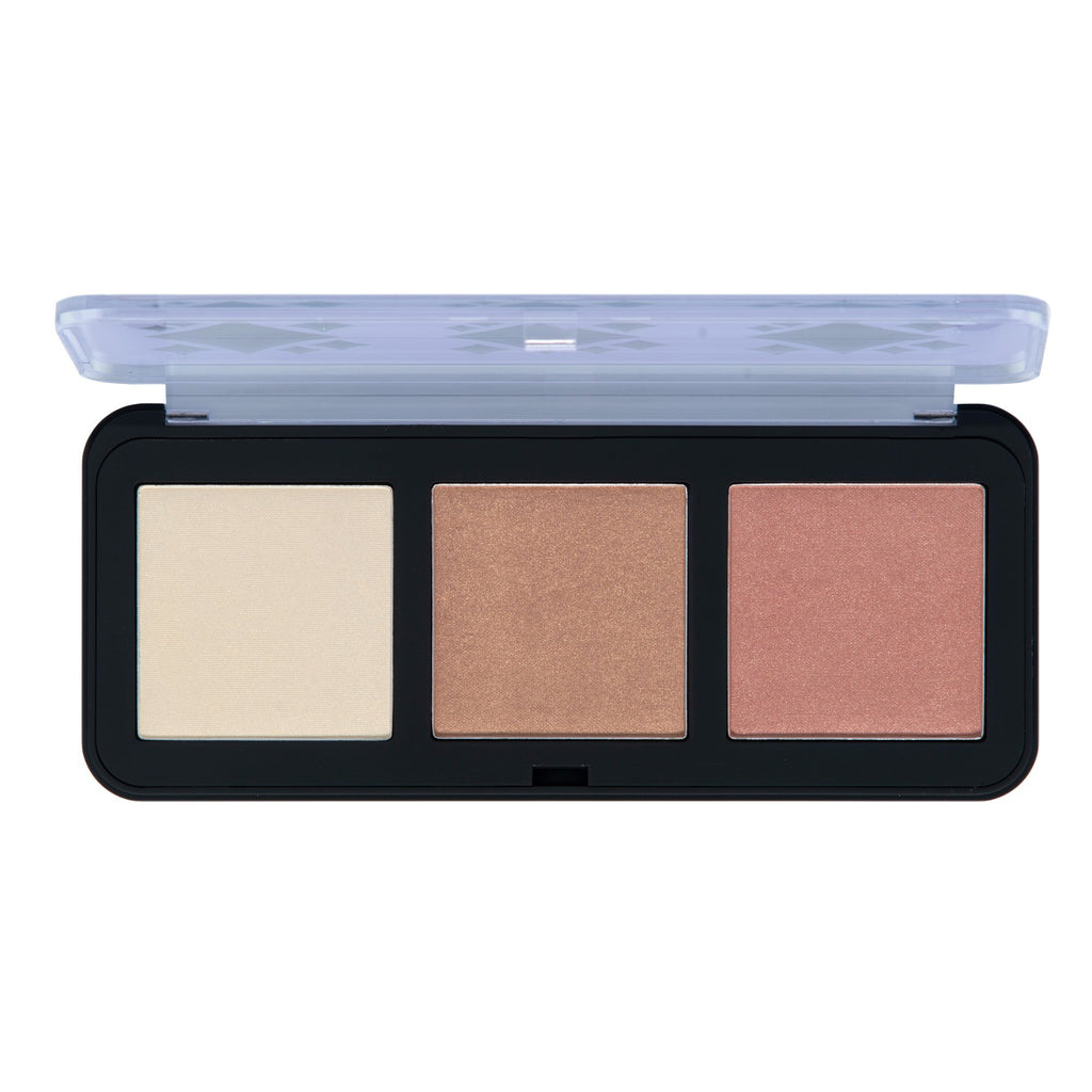 """Halo, Lovely"" Powder Highlighter Trio Palette in Alpha - The Crème Shop"