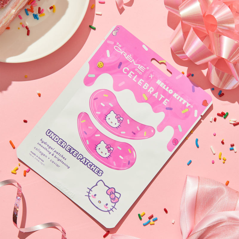 Under Eye Patches - Hydrogel, Soothing & Brightening, Collagen + Caviar Under Eye Patches The Crème Shop x Sanrio