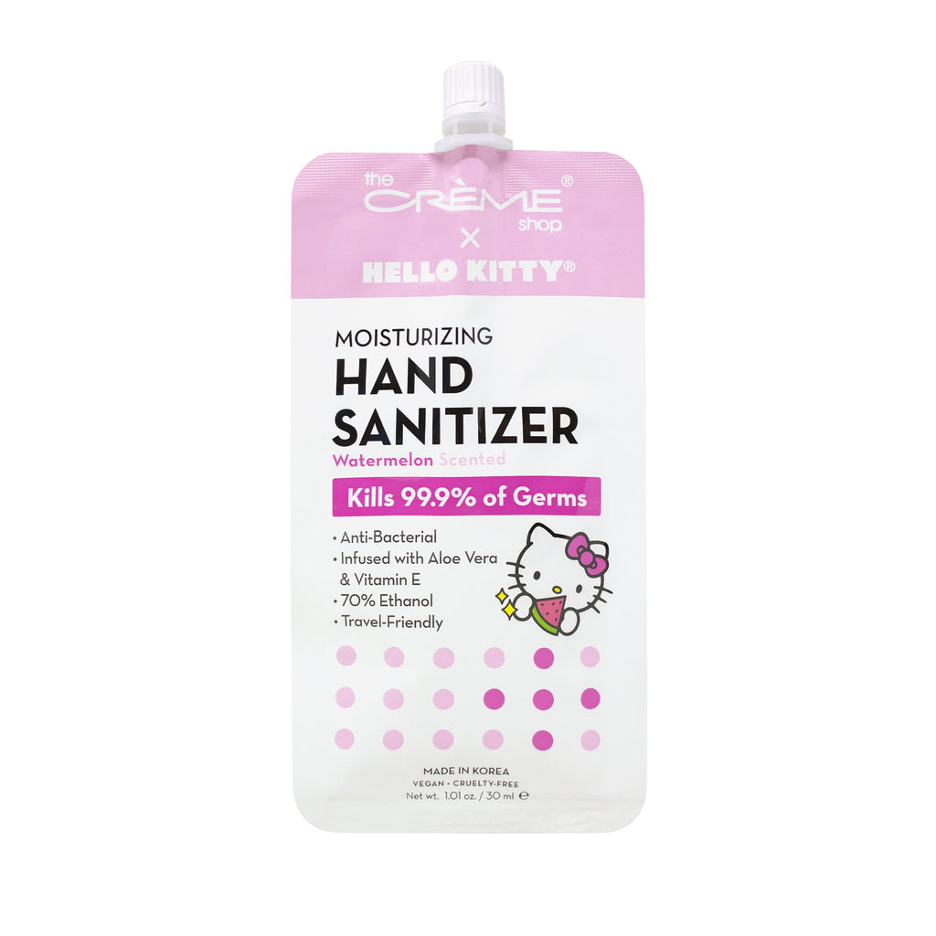 Hello Kitty Moisturizing Hand Sanitizer - Watermelon Scented Hand Sanitizer The Crème Shop x Sanrio Single
