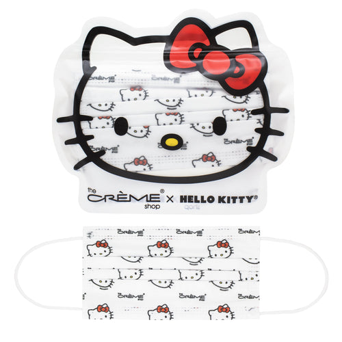 3-Ply Protective Face Mask - Hello Kitty (Disposable) - The Crème Shop