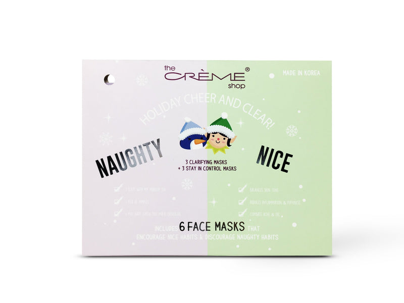 Holiday Cheer And Clear! - Naughty & Nice 6 Face masks - The Crème Shop