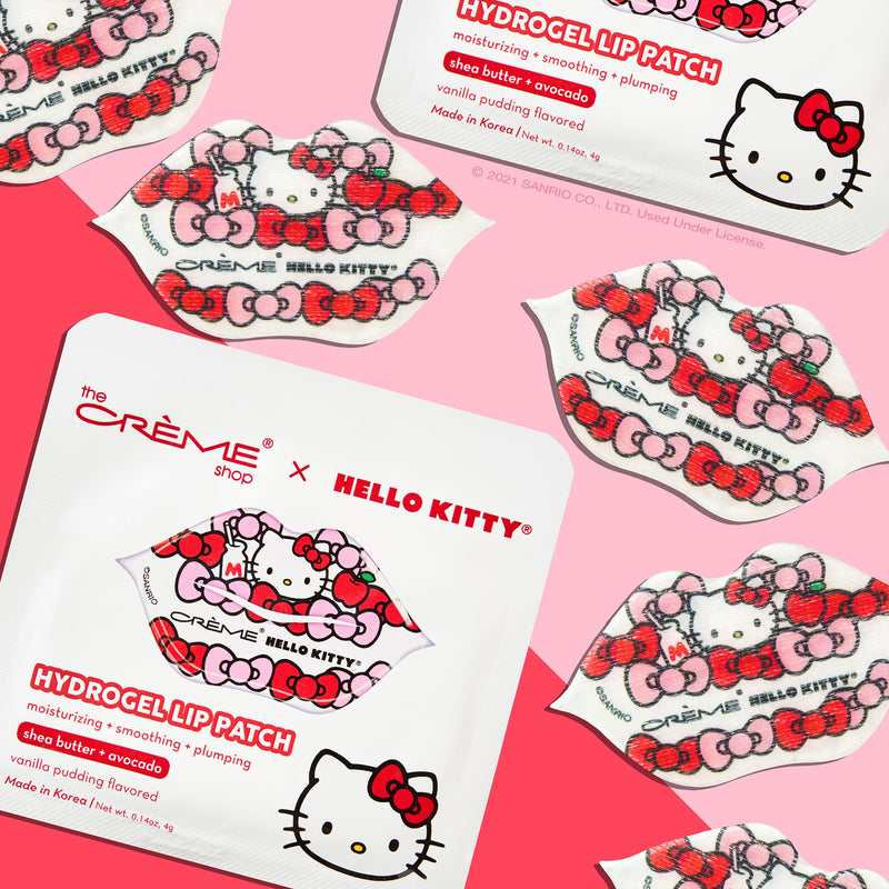 Hello Kitty Hydrogel Lip Patch | Vanilla Pudding Flavored Lip Patches The Crème Shop x Sanrio