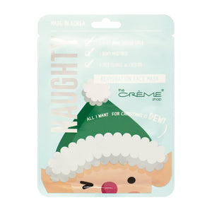 "Rehydration ""Naughty"" Face Mask Elf - All I Want for Christmas is Dew - The Crème Shop"