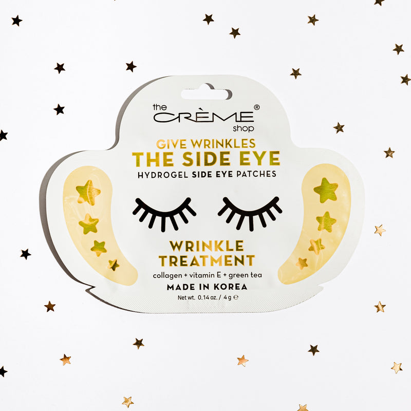 Give Wrinkles The Side Eye - Hydrogel Side Eye Patches, Wrinkle Treatment Side Eye Patches The Crème Shop