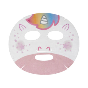 Clear Up, Skin! Animated Unicorn Face Mask - Clarifying Strawberry Milk - The Crème Shop