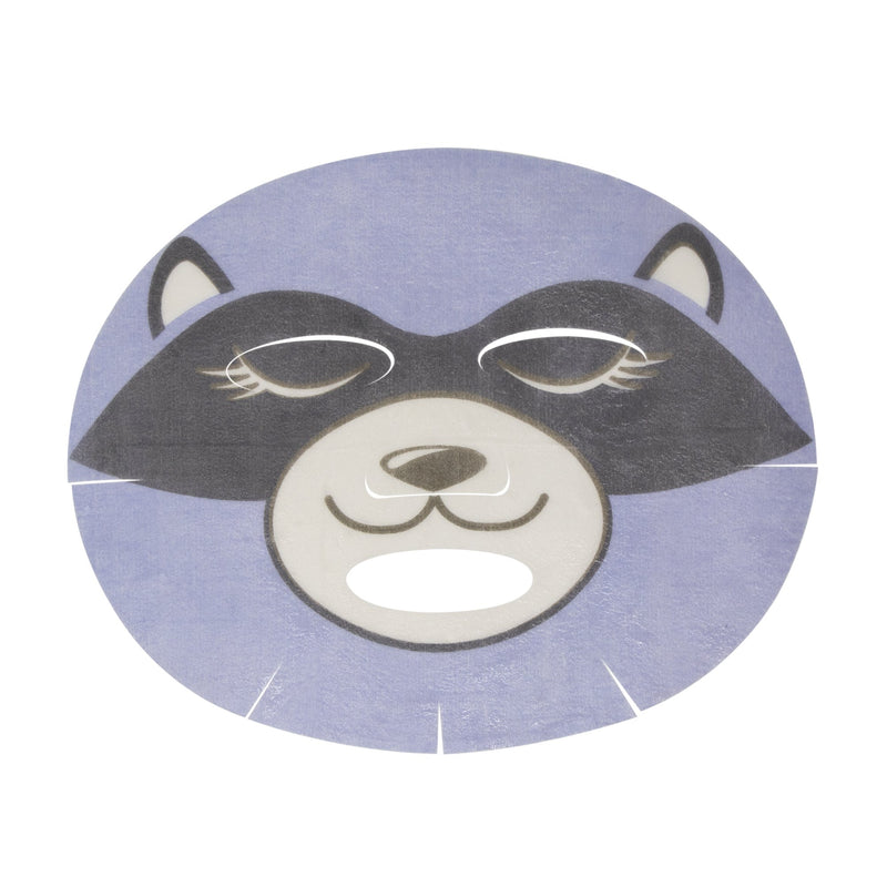 Wake Up, Skin! Animated Raccoon Face Mask - Rejuvenating Coconut Gel - The Crème Shop