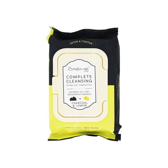 Charcoal & Lemon Pre-Wet Towelettes, Towelettes - The Crème Shop