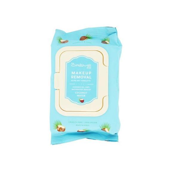 Makeup Removal Coconut Water Pre-Wet Towelettes, Towelettes - The Crème Shop