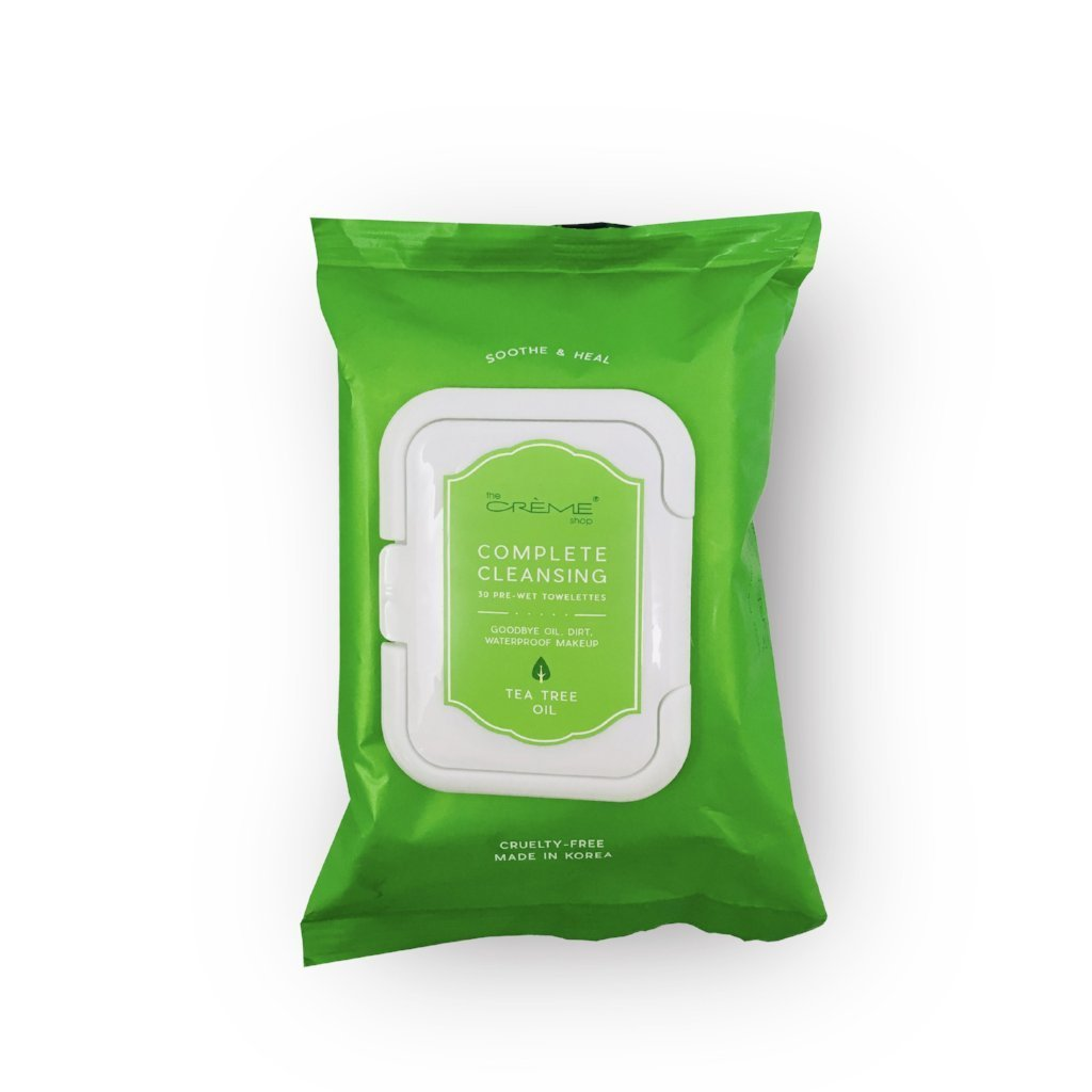 Complete Cleansing Tea Tree Oil Pre-Wet Towelettes - The Crème Shop