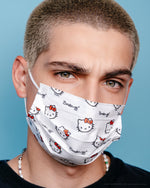 Hello Kitty 3-Ply Disposable Protective Face Mask | Classic White Protective Masks The Crème Shop x Sanrio