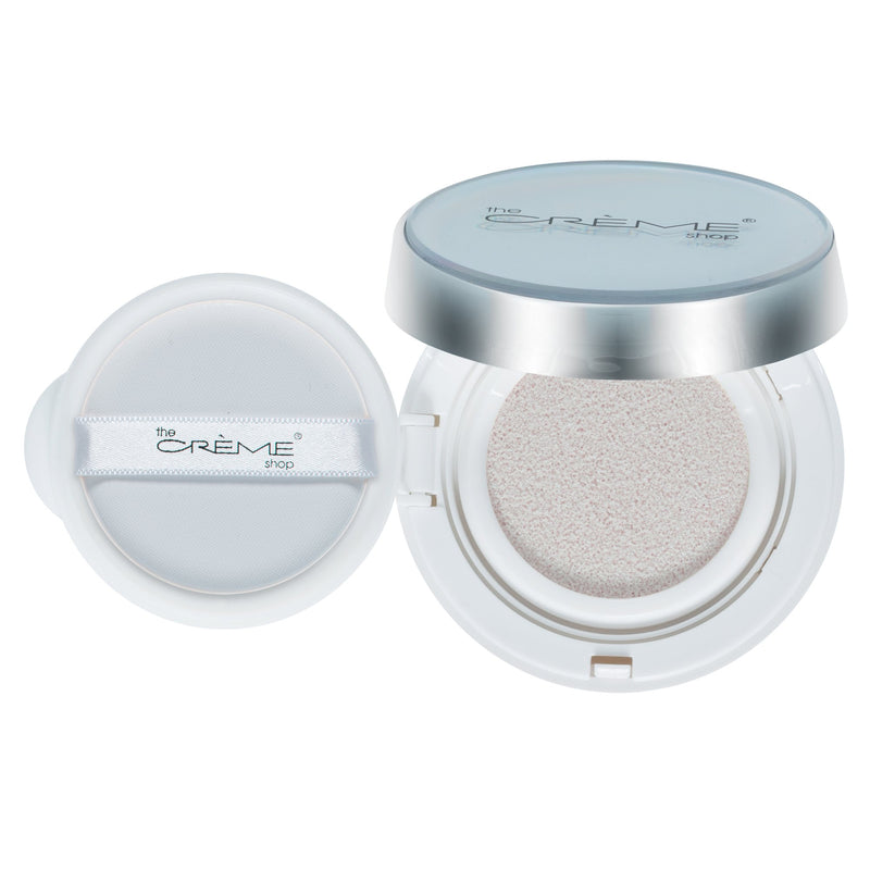 """ready. set. glow."" Cushion Highlighter Silver Glow - The Crème Shop"