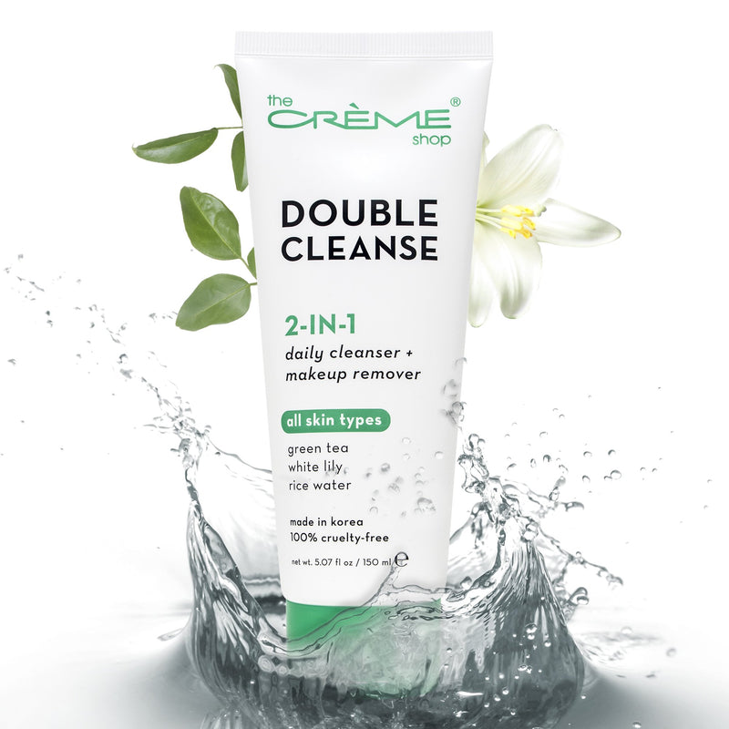 2-in-1 Facial Foam Cleanser | Green Tea + White Lily + Rice Water - The Crème Shop