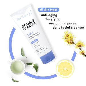 2-in-1 Facial Foam | Witch Hazel + Lemon + Green Tea - The Crème Shop