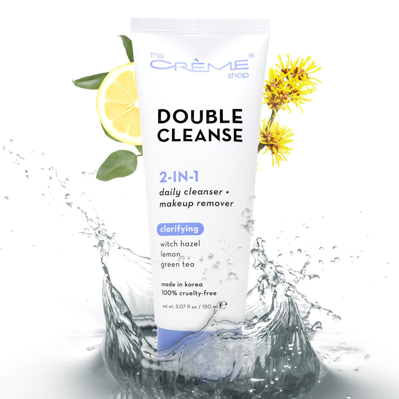 2-in-1 Facial Foam: Witch Hazel + Lemon + Green Tea, Foam Cleanser - The Crème Shop