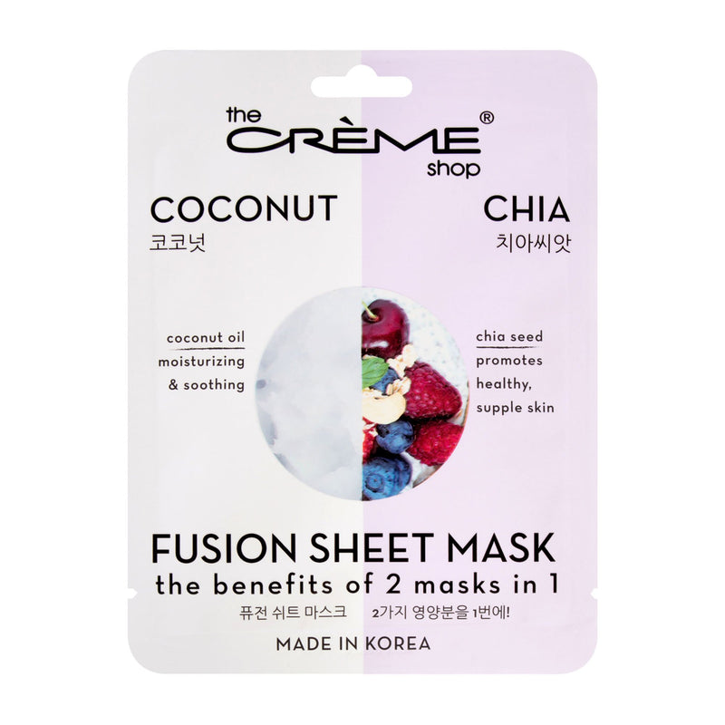 Coconut & Chia Fusion Sheet Mask - The Crème Shop