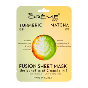 Turmeric & Matcha Fusion Sheet Mask - The Crème Shop